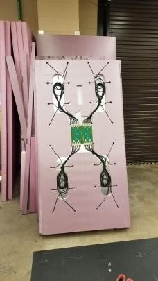 Final layup of the antenna wiring