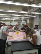 Encasing the elements in fiberglass for waterproofing